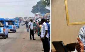 Picture of FRSC operation and Reuben Abati