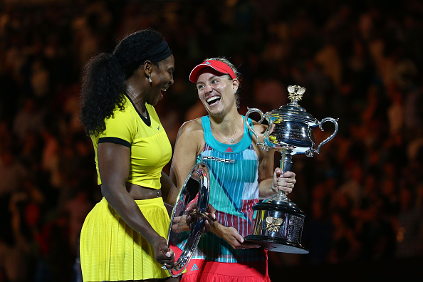 Angelique Kerber and Serena Williams