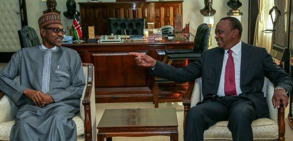 President Buhari and President Uhuru Kenyatta