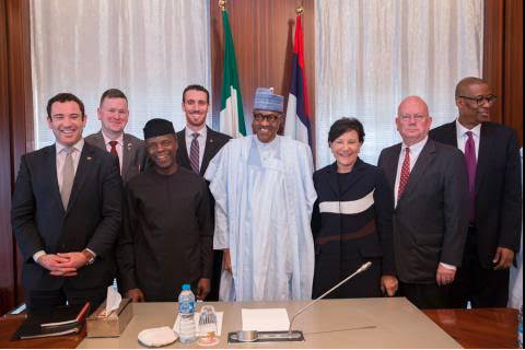 President Buhari receives US Secretary of Commerce at the State House