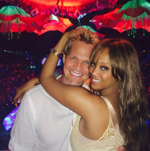 Tyra Banks and Erik Asla