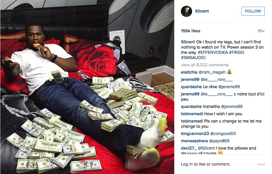 50 Cent Instagram Money Post