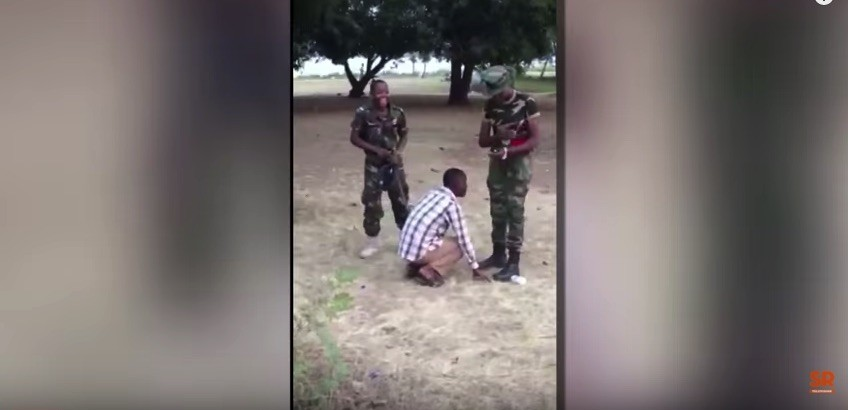 Female cadet tortures civilian for complementing her beauty