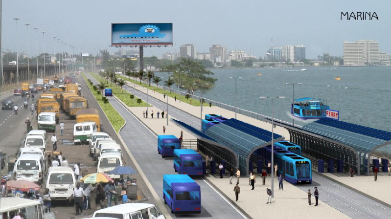 Lagos Light Rail Outer Marina View