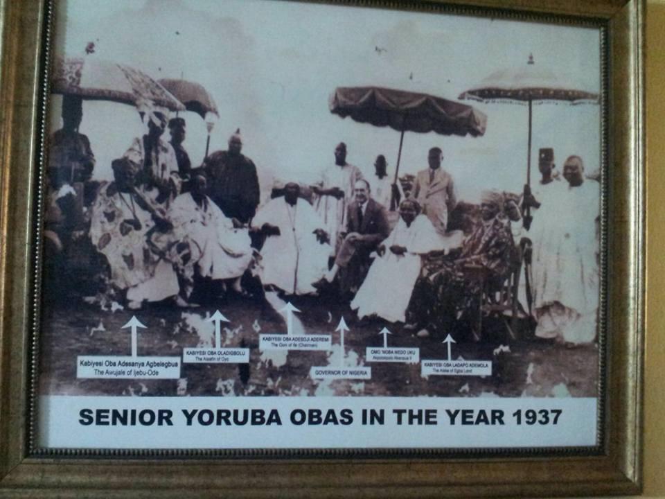 Senior Yoruba Obas in the year 1937