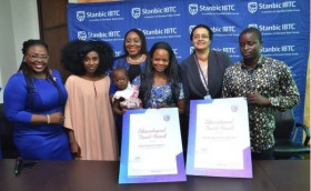 StanbicIBTC presents Olajumoke Orisaguna children with Trust Fund