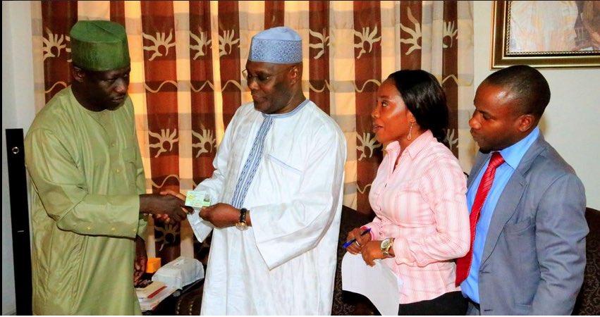 Asiku Abubakar receives national ID Card