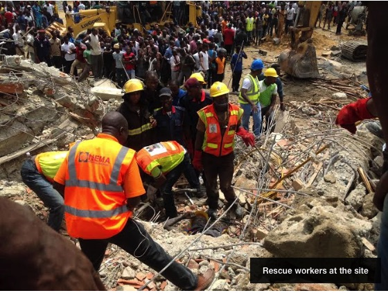 Lekki Gardens Building Collapse Photo