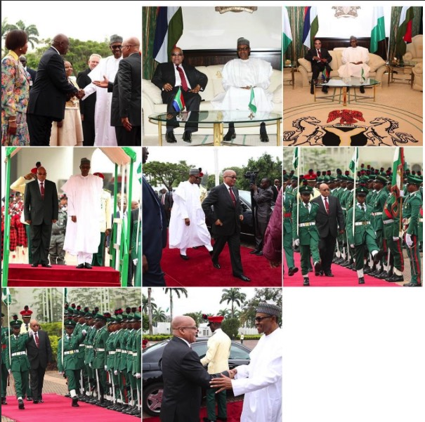 Photo highlights of President Zuma's visit to Nigeria