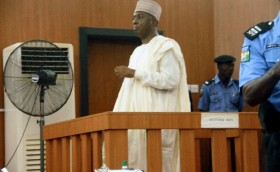 Senator Bukola Saraki in Accused Box