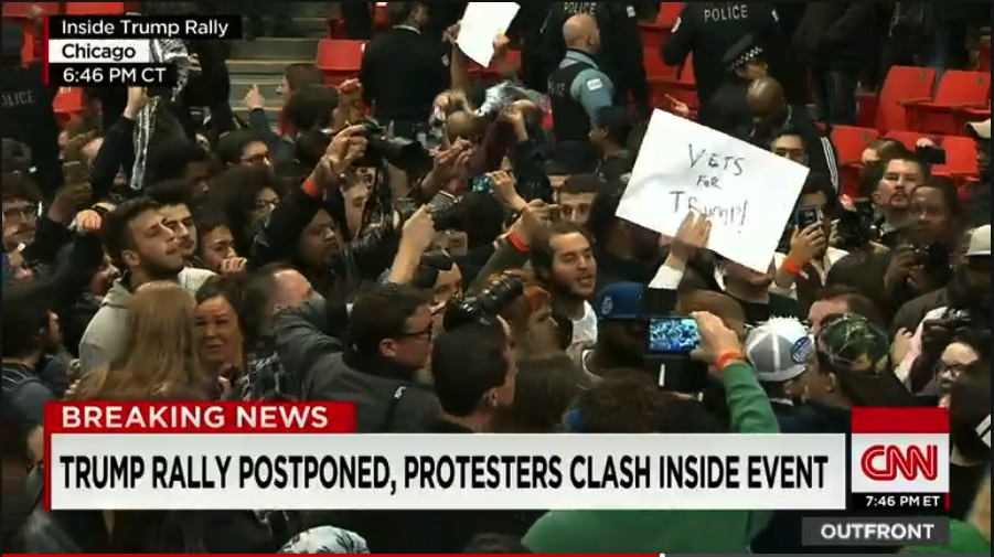 Trump Chicago Rally Protests