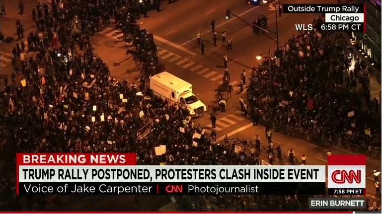 Tump Rally Protests in Chicago